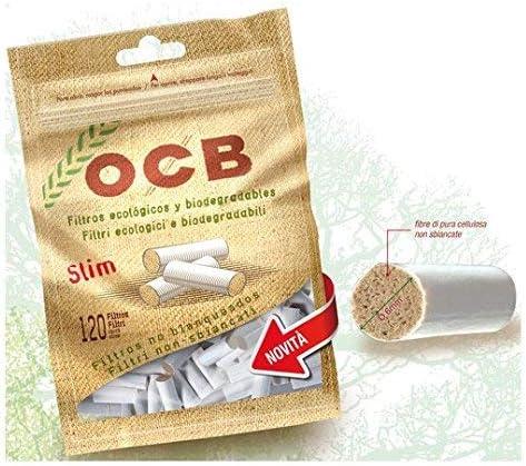 OCB - Boquillas de filtro para cigarrillos (material orgánico, 10 paquetes con 120 unidades, 6 mm): Amazon.es: Salud y cuidado personal