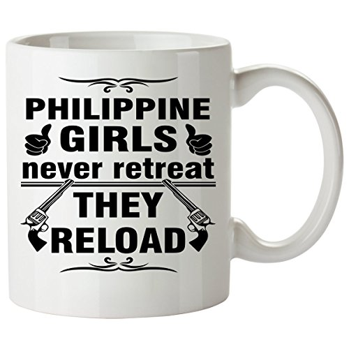 PHILIPPINE Coffee Mug 11 Oz - Good Gifts for Girls - Unique Coffee Cup - Decor Decal Souvenirs Memorabilia