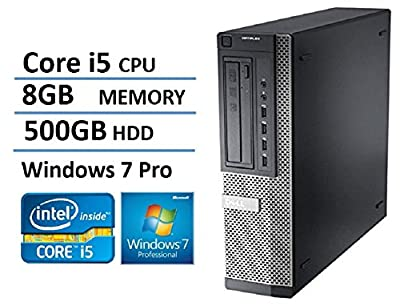 2016 Dell Optiplex 7010 Business Desktop Computer (Intel Quad Core i5 up to 3.8GHz Processor), 8GB RAM, 500GB HDD, DVD, Windows 7 Professional (Certified Refurbished)