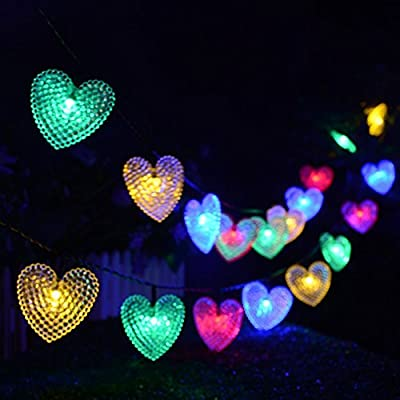 Solar Outdoor String Lights,Multi-color 20 LED Water Drop Solar String Waterproof Led Fairy Lighting Solar Powered String lights For Garden Decorations, Fence, Patio, Yard, Home, Christmas Tree, Wedding,Party,Home and Holiday