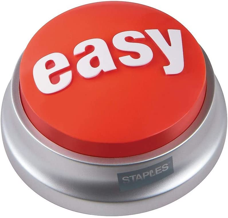 Amazon.com : Staples 606396 Easy Button : Office Accessories And Decor : Office Products