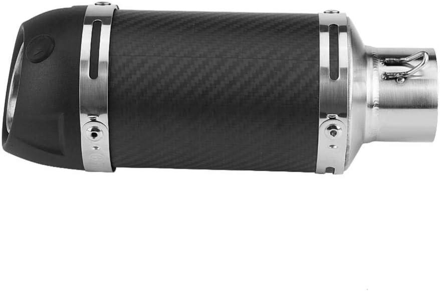 Pasamer Tubo del silenziatore di Scarico 51mm Moto Universale modificato Tubo del silenziatore di Scarico in Fibra di Carbonio Opaco Reale modificato con Db Killer