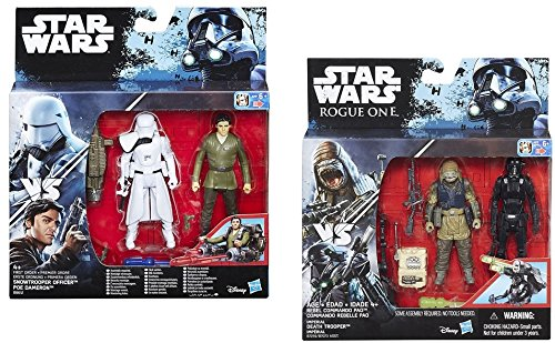 B8612 Star Wars Star Wars Snowtrooper Officer and Poe Dameron Deluxe 3.75 Inch Action Figure Playset