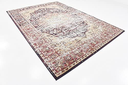 Unique Loom Augustus Collection Boho Traditional Vintage Rust Red Area Rug 7' 0 x 10' 0