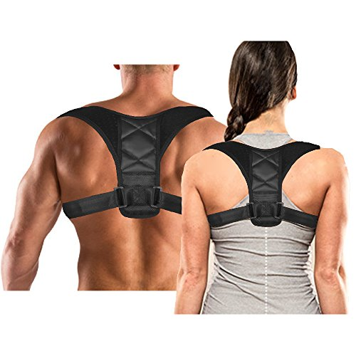 Ali-Mak Max Comfort Posture Corrector Clavicle Support Brace to Improve Posture, Prevent Shoulder Slouching, Heal Back Pain, and Align Shoulders for Men and Women Sports Improvement by Dr. Posture