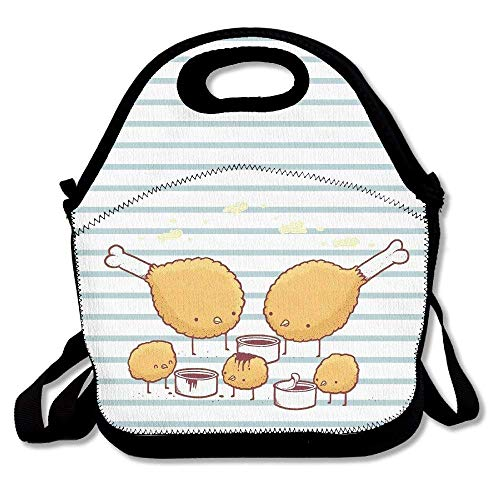 Chicken Funny Animal Cartoon Insulated Lunch Bag - Large Reusable Lunch Tote Bags For Women, Teens, Girls, Kids, Baby, Adults Portable Carry