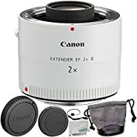 Canon Extender EF 2X III 6PC Accessory Bundle – Includes Manufacturer Accessories + Lens Cap Keeper + Microfiber Cleaning Cloth