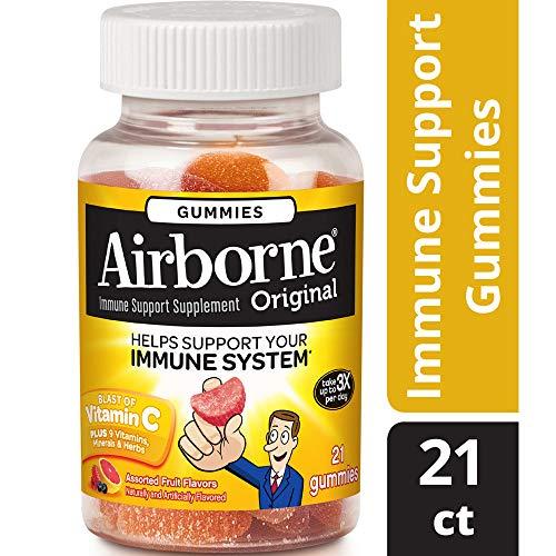 Airborne Kids Gummies, 21 count - Vitamin C 1000mg - Immune Support Minerals & Herbs,