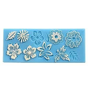 Mini molde silicona fondant flor de encaje para hacer tarta pastel flores tama o - Moldes silicona amazon ...
