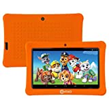 Contixo Kid Safe 7'' HD Tablet WiFi 8GB Bluetooth, Free Games Pre-Installed, Kids-Place Parental Control W/ Kid-Proof Case (Orange) - Best GifT