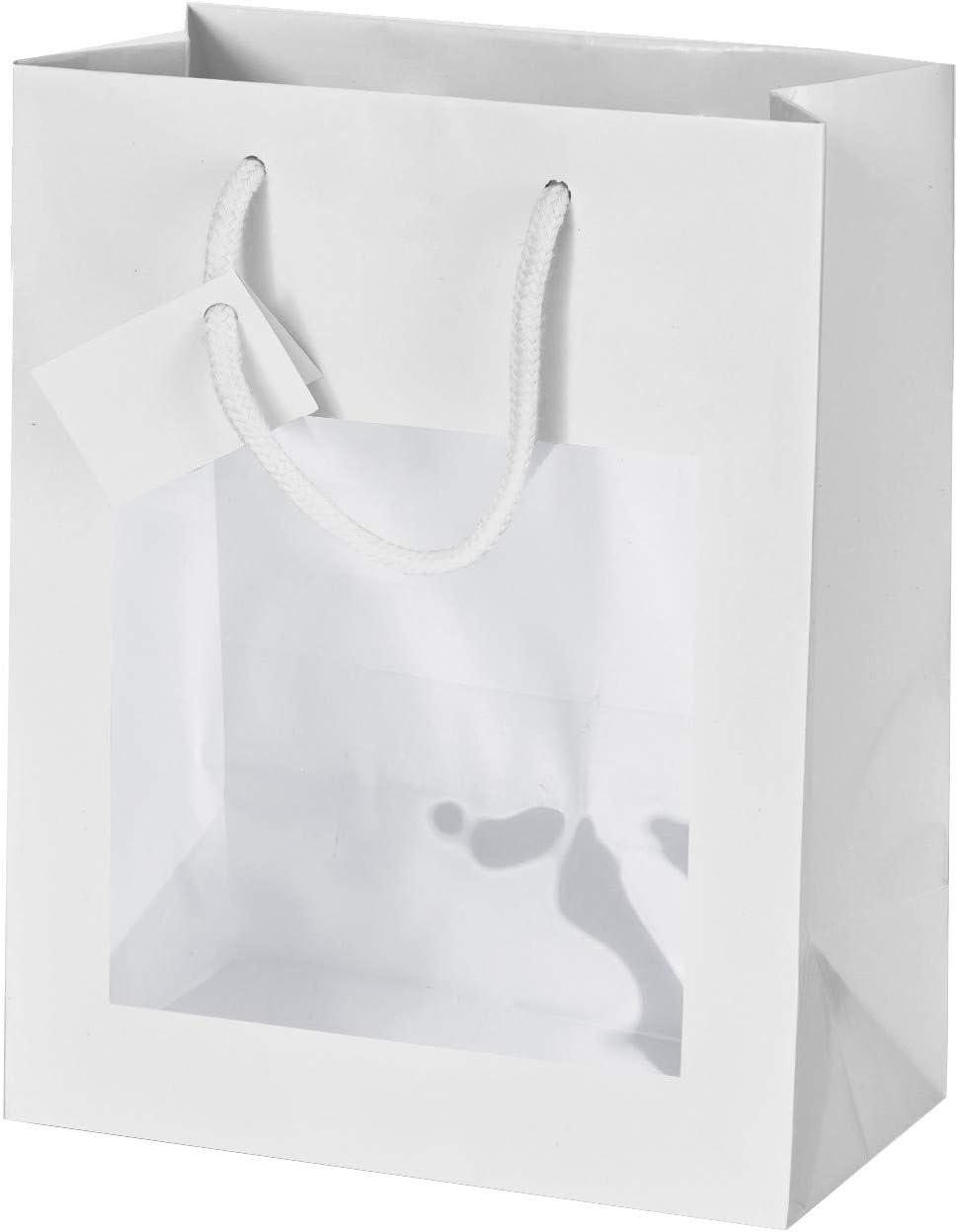 16+8X14 Eurofides/® 50 Shopper Carta Opaca con vetrina Bianco cm