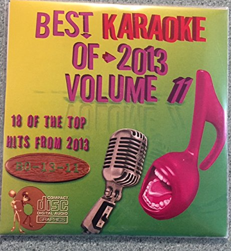 Best Of Karaoke 2013 Volume 11 CD+Graphics CDG 18 Pop & Country Tracks Coldplay Justin Timberlake Iggy Azalea f/ Chari XCX Ed Sheeran Chainsmokers Jake Owen Sara Evans Arctic Monkeys Randy Houser
