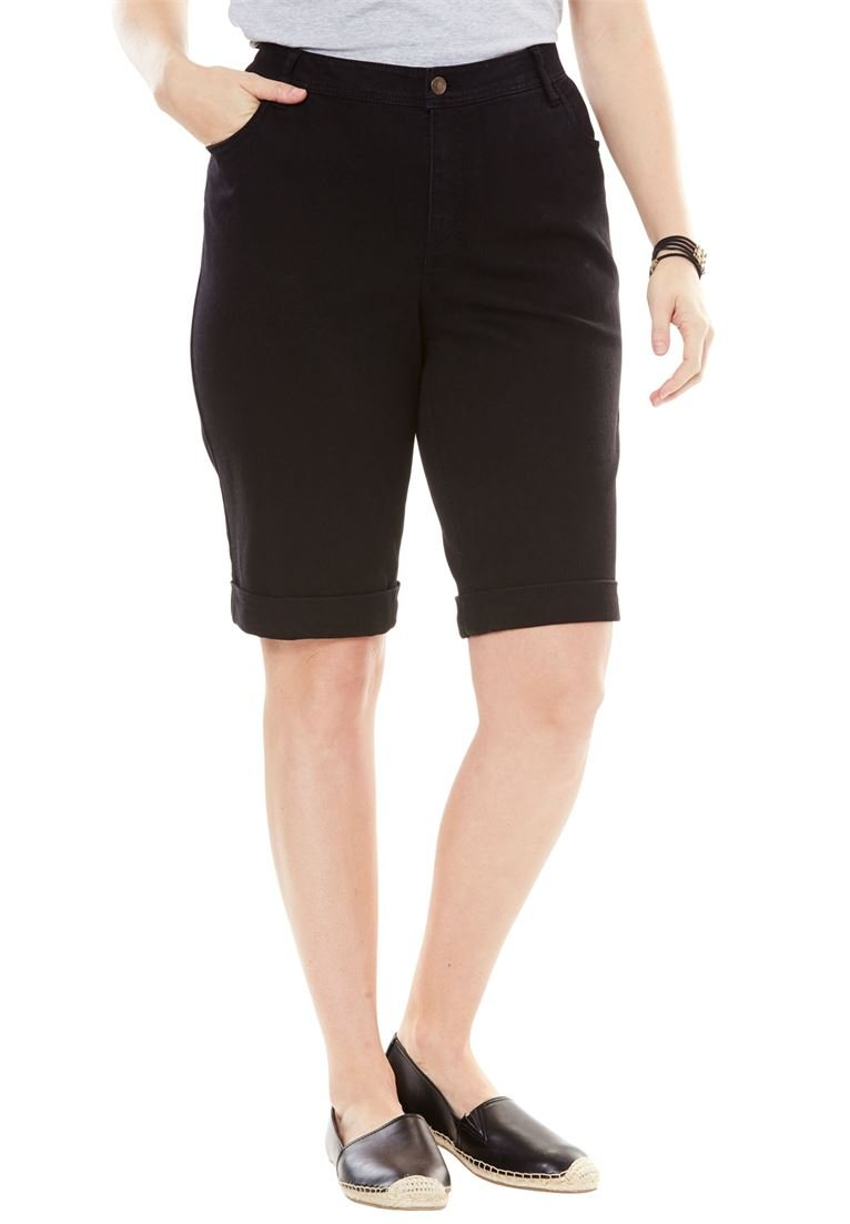 Woman Within Women's Plus Size Stretch Jean Bermuda Short