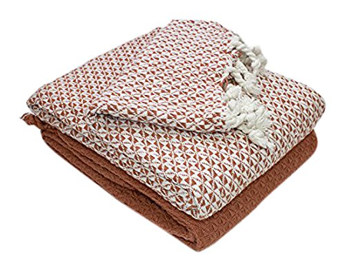 Durable Service Amrapur Overseas Mosaic 40% Cotton 40 Pack Throw Cool Luxury Throw Blanket By Amrapur