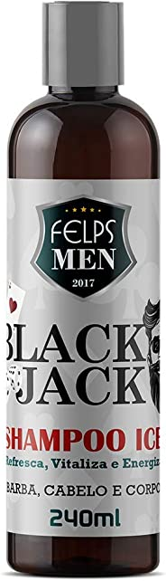 Men Black Jack Shampoo Ice 240 ml, Felps