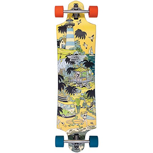 DUSTERS Daze Longboard, Orange/Blue, Size 38