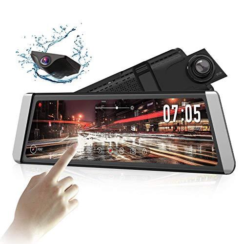 AUTO-VOX X1 9.88' Mirror Dash Cam with Full Touch Screen Stream Media Dual...