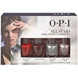 OPI STARLIGHT All Stars - Mini kit di smalti per unghie, 4 x 3,75 ml, mod. Natale 2015