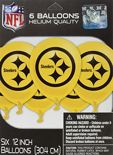 Sports and Tailgating NFL Party Pittsburgh Steelers Latex Balloons Decoration, 12