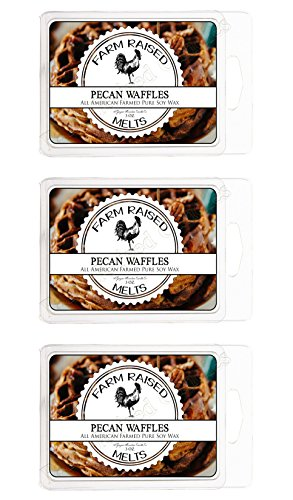Pecan Waffles 3 Pack 18x Cubes 100% All Natural American Farm Raised Made Paraffin-Free Scented Wax Melts Warmer Cubes. Scented Tarts Vegan Wax Melts. Like Candle Tarts Or Bars