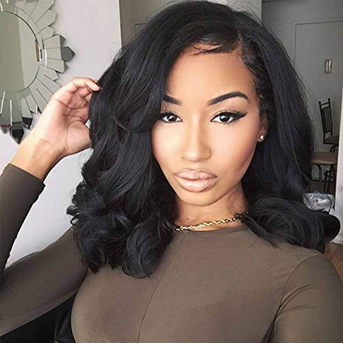 ELIM Wigs for Black Women Short Wavy Curly Hair Wig African American Womens Synthetic Wig Heat Resistant Natural Looking Wigs Z126