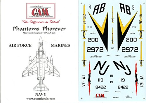 CAM Decals 1:48 Phantoms Phorever F-4 B/C/J/N/S Part I #48-001 (Cams Phantom)