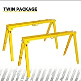 Heavy Duty Folding Adjustable Sawhorse - Twin package metal sawhorse, Frontier qualified Easy folding and unfold, Adjustable Height for uneven Floor SH3802 (2)