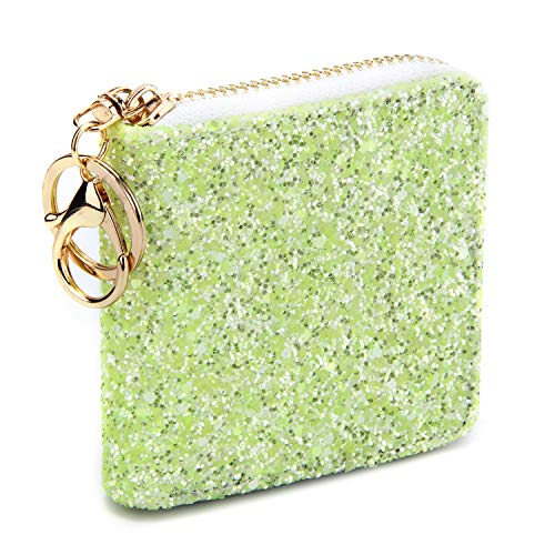 GEEAD Small Glitter Wallet for Women Girls Mini Coin Purse Pouches with Key ()