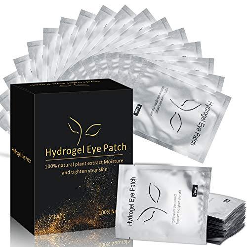 Under Eye Pads for Eyelash Extensions Lint Free 100% Natural Hydrogel Eye Patch/Lash Extensions Eye Gel Pads, Lash Pad Kit - 55 Pairs