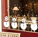 TOTOMO Christmas Window Decal Stickers Four White Snowbabies Decoration