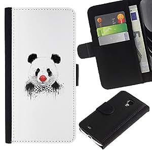 UNIQCASE - Samsung Galaxy S4 Mini i9190 MINI VERSION! - Funny Panda Clown Graphiti - Cuero PU Delgado caso cubierta Shell Armor Funda Case Cover