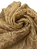 Indian Patiala Suit Traditional Punjabi Dupatta Perfect Match for Party Suits (Gold with Thread Embroidery)