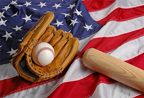 - AOFOTO 8x6ft Baseball Bat Ball Mitt On American Flag Background Batter Pitcher Hit Moundsman Batting Catcher Glove Photography Backdrop Sports Athletic Player Match Game Photo Studio Props Wallpaper