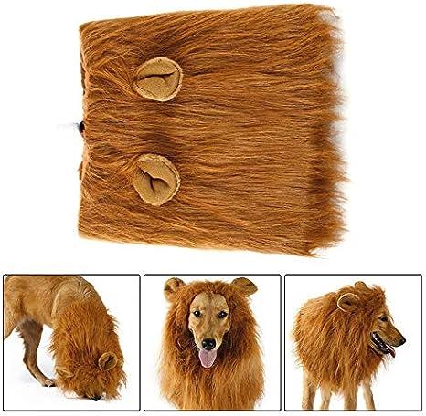 Ningbao Disfraz de Mascota Perro Pelucas de león Melena Bufanda de ...