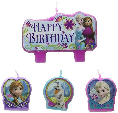 Frozen Birthday Candle Set (Set Of 4) ()