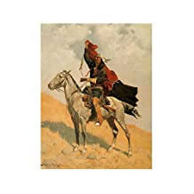 "Alonline Art - The Blanket Signal Frederic Remington VINYL STICKER DECAL 16""x21"" - 41x54cm Vinyl Wall Decal For Bedroom Adhesive Vinyl Decal Wall Art Stickers Wall Decor Sticker For Kitchen Artwork"