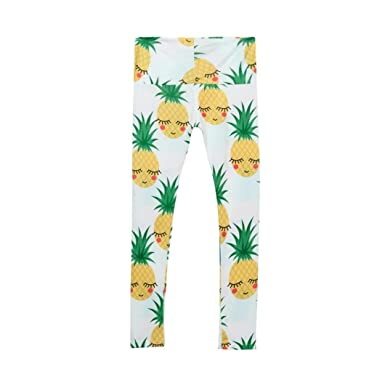 ed70532b7c1c7 Xshuai for 2-5 Years Old Kids, Newborn Baby Girls Children Trousers Skinny Pineapple  Printed Stretchy Yoga Pants Leggings Family Clothes: Amazon.co.uk: ...