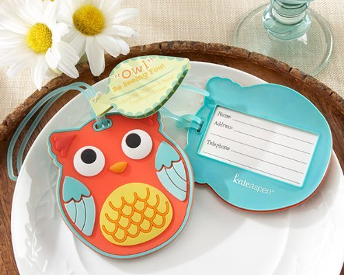 <i>Owl</i> Be Seeing You Owl Luggage Tag -72 count by FavorWarehouse by Kate Aspen