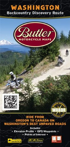 Butler Maps Backcountry Discovery Routes Map - Washington State