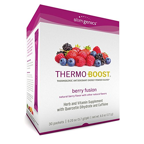 SlimGenics Thermo-Boost ® | Thermogenic Thermo Burn Powder Energy Drink Mix – Antioxidant, Anti-Aging Properties - Metabolism Booster for Weight Loss - (Berry Fusion Flavor) (Carb Mix Drink Power)