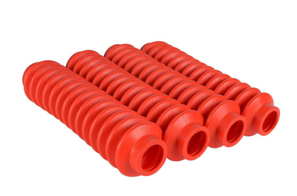 4 Shock Boots Red Fits Most Shocks for Jeep Wrangler YJ All Models