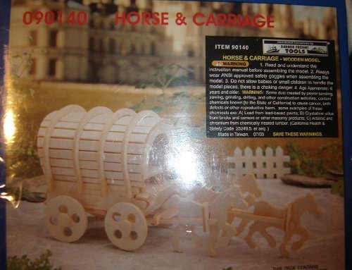 Horse and Carriage (Wooden Model Kit) by Horse & (Horse Carriage Model)