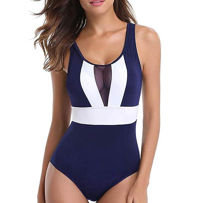Slyar Trajes De BañO Mujer 2019 Enteros BañAdor para Mujer Halter Beach Trajes De BañO Mujer Una Pieza De Moda Bikini Mujer Push Up Ropa De Mujer ...