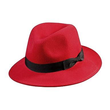 637fbdf15 Wool Fedora Hat-Women's Felt Floppy Panama Hats Vintage Classic ...