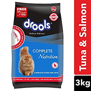 Drools Tuna & Salmon Cat Food, 3kg (15% Extra Free Inside Stock)