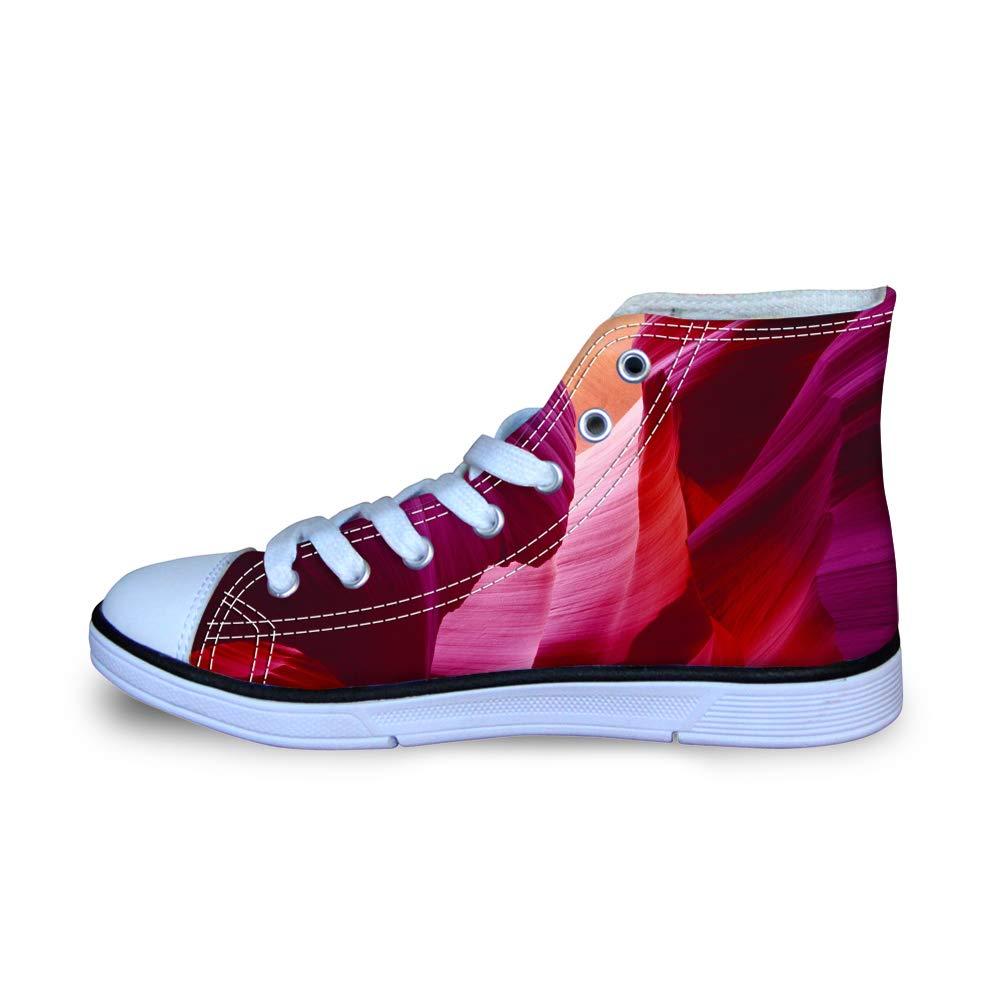 Canvas High Top Sneaker Casual Skate Shoe Boys Girls Antelope Canyon Graphic