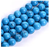 10mm gem setting - 2 Strands x AAA Natural Howlite Turquoise Gemstone Loose Round Beads 10mm Spacer Beads (15.5