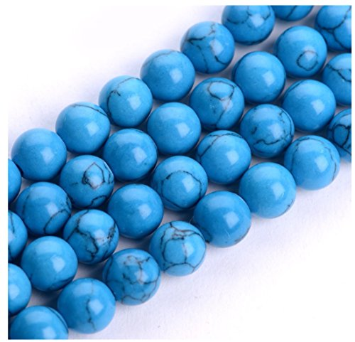 2 Strands x AAA Natural Howlite Turquoise Gemstone Loose Round Beads 6mm Spacer Beads (15.5