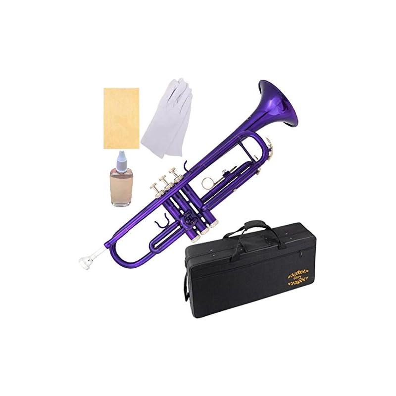 Glory Brass Bb Trumpet with Pro Case +Ca