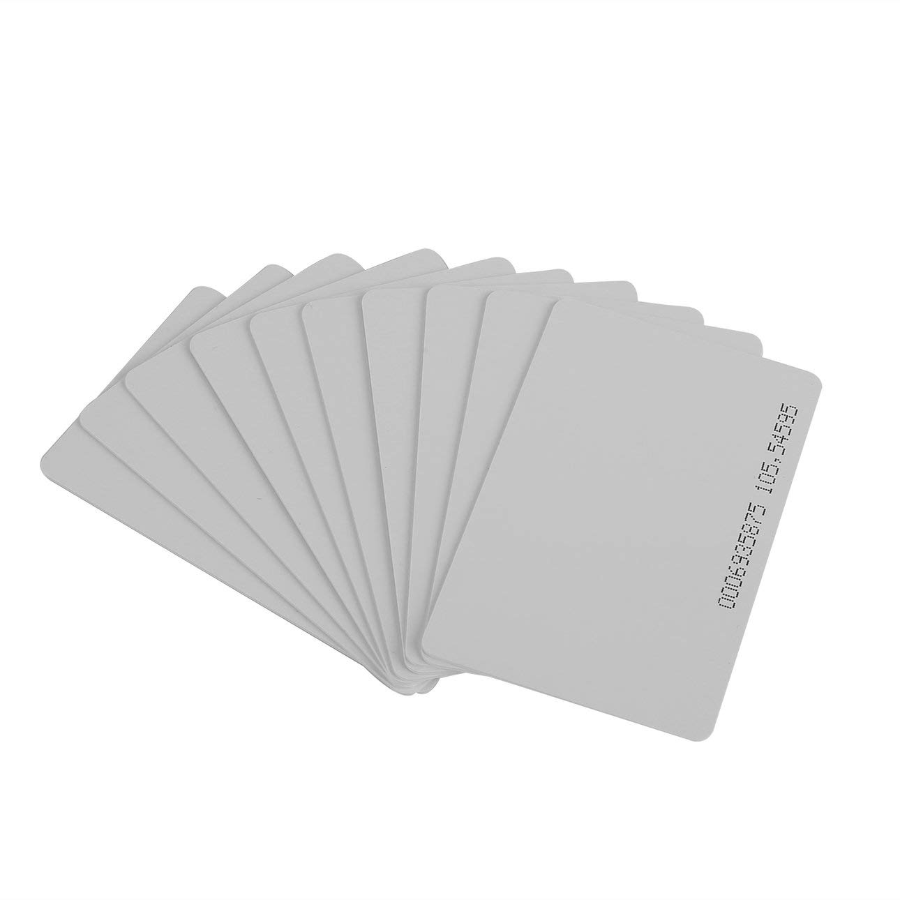 Liobaba 10 Pcs 125KHz EM4100/TK4100 RFID Proximity ID Smart Card 0.85mm Thin Cards for ID and Access Control